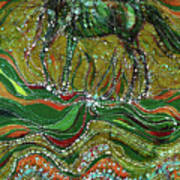 Horse Rises From The Earth Poster by Carol Law Conklin