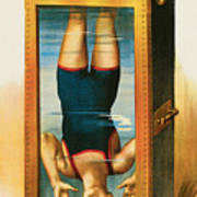 Houdini Water Filled Torture Cell Poster by Unknown