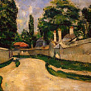 Houses Along A Road Poster by Paul Cezanne