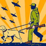 Hunting Gun Dog Poster by Aloysius Patrimonio