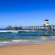 Huntington Beach Pier In Orange County California Poster by Paul Velgos