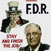 I Want You Fdr  Poster by War Is Hell Store