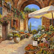 Il Mercato Del Lago Poster by Guido Borelli