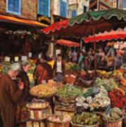 Il Mercato Di Quartiere Poster by Guido Borelli