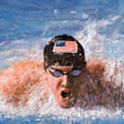 Il Nuotatore Poster by Guido Borelli