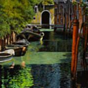 il palo rosso a Venezia Poster by Guido Borelli