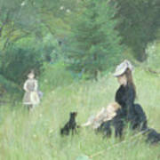 In A Park Poster by Berthe Morisot