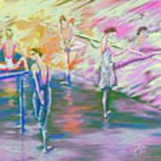 In Ballet Class Poster by Cynthia Sorensen