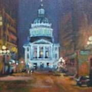 Indy Government Night Poster by Donna Shortt