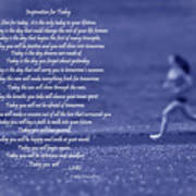 Inspiration For Today Runner  Poster by Cathy  Beharriell