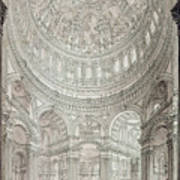Interior Of Saint Pauls Cathedral Poster by John Coney