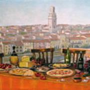 Italian Cityscape-verona Feast Poster by Italian Art