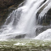 Ithaca Falls On Fall Creek - Mountain Showers Poster by Christina Rollo