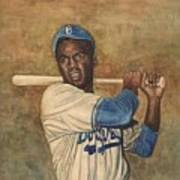 Jackie Robinson Poster by Robert Casilla