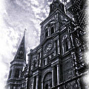 Jackson Square Cathedral Poster by Linda Kish