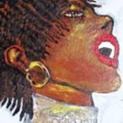 Jazz Singer Jade Poster by Samuel Banks