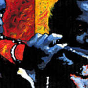 Jazz Trumpeters Poster by Yuriy  Shevchuk