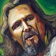 Jeffrey Lebowski The Dude Poster by Buffalo Bonker