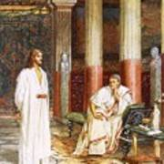 Jesus Being Interviewed Privately Poster by William Brassey Hole
