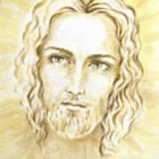 Jesus In Light Poster by Stoyanka Ivanova