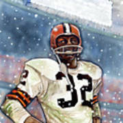 Jim Brown Poster by Dave Olsen