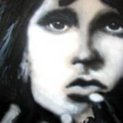 Jim Morrison Ravens Claws   Poster by Jon Baldwin  Art