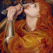 Joan Of Arc Poster by Dante Charles Gabriel Rossetti