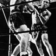 Joe Louis Delivers Knockout Punch Poster by Everett