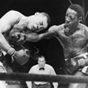 Joe Louis Left, Takes A Hard Right Poster by Everett