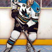 Joe Thornton San Jose Sharks Poster by Dave Olsen
