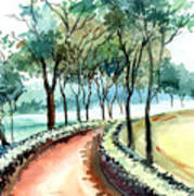 Jogging Track Poster by Anil Nene