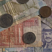 Jordan Currency Poster by Richard Nowitz