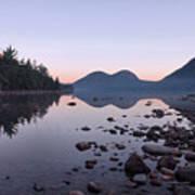 Jordan Pond Reflections - Acadia Poster by Stephen  Vecchiotti
