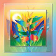 Jungle Sunset Poster by Jack Potter