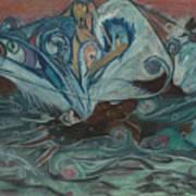 Jupiter Surf Poster by Stu Hanson