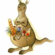 Kangaroo 02 Poster by Kestutis Kasparavicius