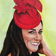 Katherine Duchess Of Cambridge Poster by Betty-Anne McDonald