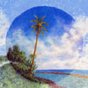 Ke'e Palm Poster by Kenneth Grzesik