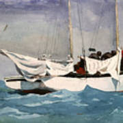 Key West Hauling Poster by Winslow Homer