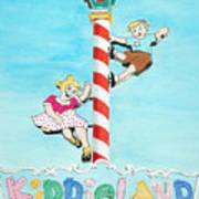 Kiddie Land Poster by Glenda Zuckerman
