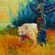 Kindred Spirits - Kermode Spirit Bear Poster by Marion Rose