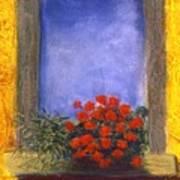 La  Finstra Con  I Fiori Poster by Mary Erbert
