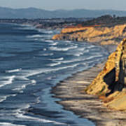 La Jolla Cliffs Over Blacks Poster by Russ Harris