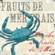 La Mer Shellfish 1 Poster by Debbie DeWitt