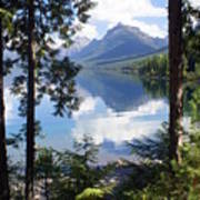 Lake Mcdlonald Through The Trees Glacier National Park Poster by Marty Koch