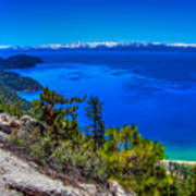 Lake Tahoe From Flume Trail Over Sand Harbor State Park Poster by Scott McGuire