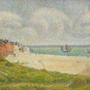 Le Crotoy Looking Upstream Poster by Georges Pierre Seurat