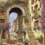 Le Scale E Un Arco Poster by Guido Borelli