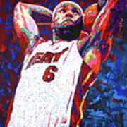 Lebron Dunk Poster by Maria Arango