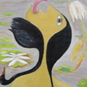 Leda And The Swan Poster by Sue Wright